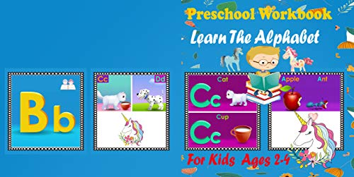 Preschool Workbook Learn the alphabet for kids ages 2-4: Unicorn to teach the alphabet for children, (A B C) - kindergarten stage, (books reading activities for kids) Pictures ( H D) (English Edition)