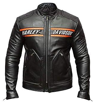 Veste Homme Bill Goldberg Noir Style Motard Moto Veste de Cuir-l