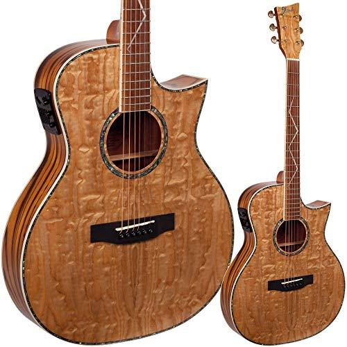 Lindo Guitars ORG-SL SE - Guitarra electro-acústica con preamplificador LCD tuner, incluye funda acolchada
