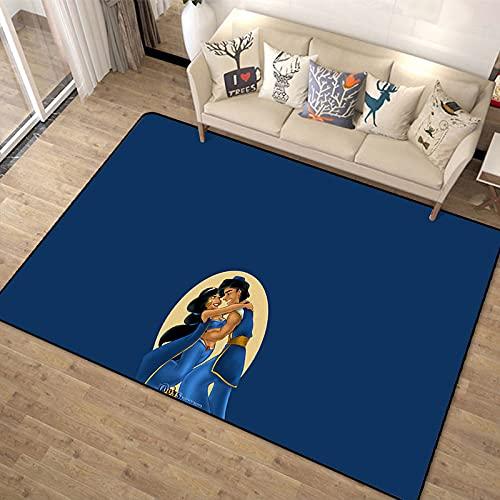Alfombra De Dibujos Animados Anime Dormitorio Juego Mat Sala De Estar Princesa Aladino Lámpara Mágica Patrón Alfombra De Puerta Alfombra Rectangular De Moda Simple Moderna