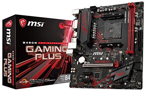 MSI Gaming Plus, Placa Base Gaming (AM4, AMD B450, 1 x PCI-E 3.0 x16, DDR4 3466+, HDMI, 4 x SATA 6 Gb/s), SATA, Negro