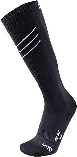 UYN, Race Shape - Calcetines de esquí para Hombre, Hombre, Color Blanco/Negro, tamaño