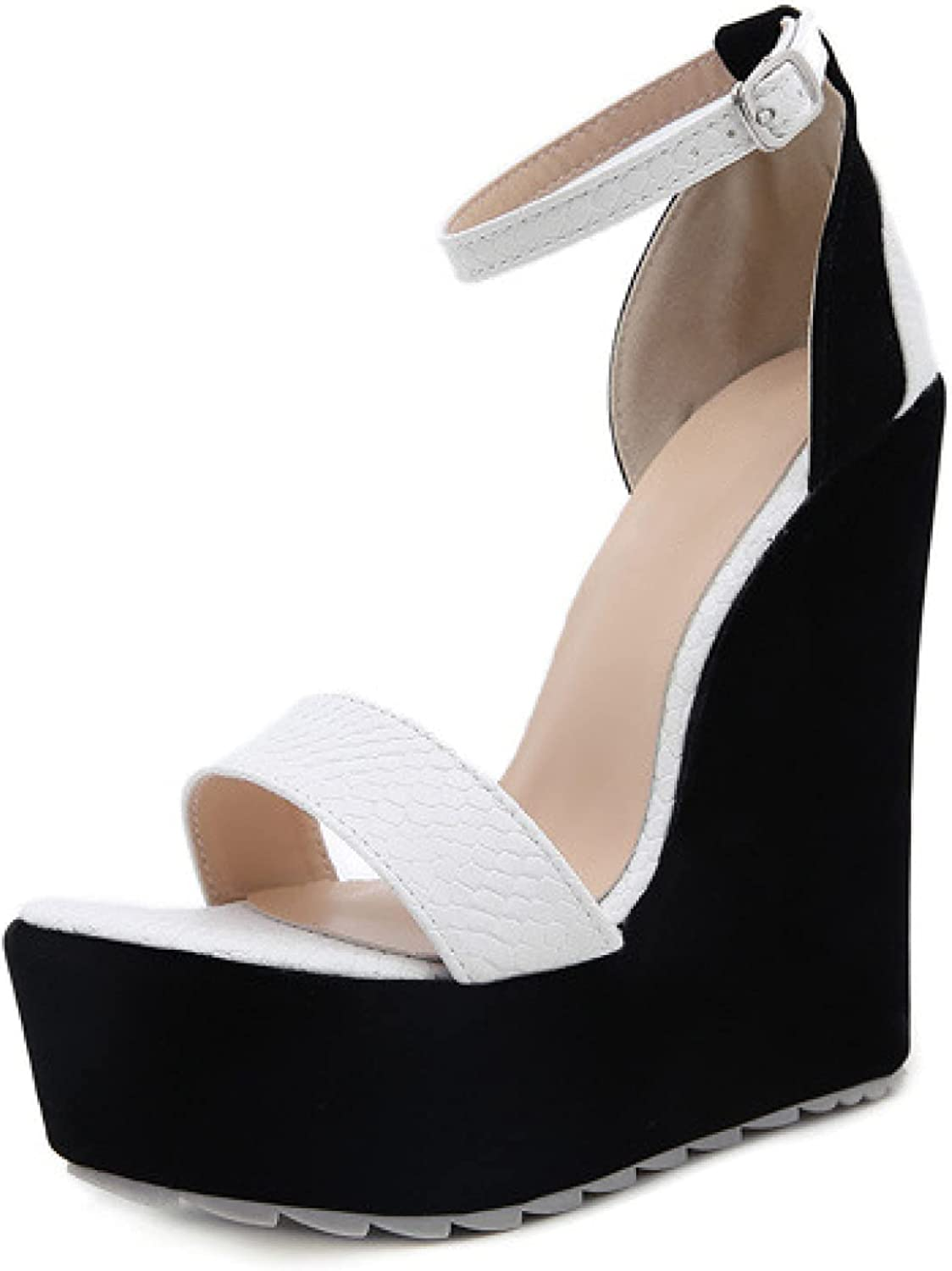 Woman's Open Toe Breathable Ankle Strap Chunky cheap Gorgeous A Heel Wedge High