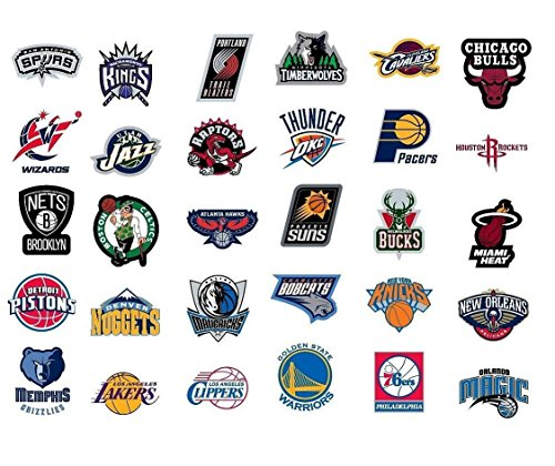 NBA National Basketball Association Team Logo Stickers Set of 30 Teams 4