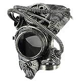 Phantom STEAMPUNK Mens Masquerade Mask | Half Face Mechanical Silver Mask | Venetian Mask | Fancy Dress PROM BALL | Great for Fancy Dress Ball / Masquerade Phantom of the Opera Masked Ball / Halloween