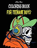 Coloring Book for Teenage Boys (Fun Illustrations for Relaxation of Teen Boys)