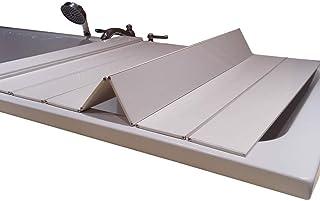 バスタブボードバスタブカバー防塵折りたたみダストボードバスタブ絶縁カバーPVCバスルームトレイ(サイズ:132800.6cm)