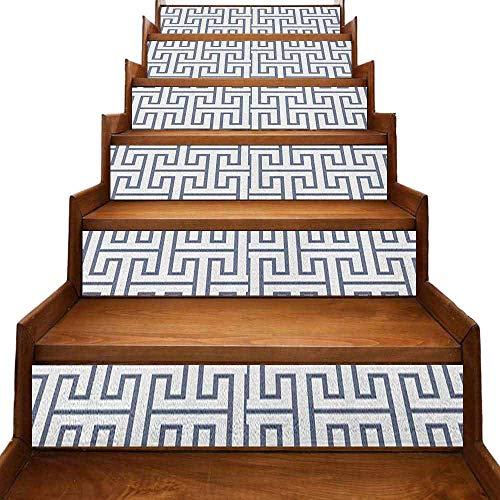 JiuYIBB Pegatinas geométricas para pared de escaleras de colores vivos y estilo 3D con piedras preciosas en fondo blanco y negro multicolor