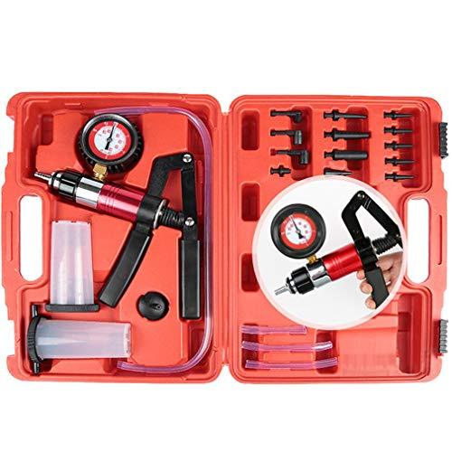 Herramientas de purga de líquido de frenos de mano DIY Kit de probador de bomba de pistola de vacío Presión corporal Depósito de líquido de vacío Probador de aceite Red Whip + beat Bomba de vacío