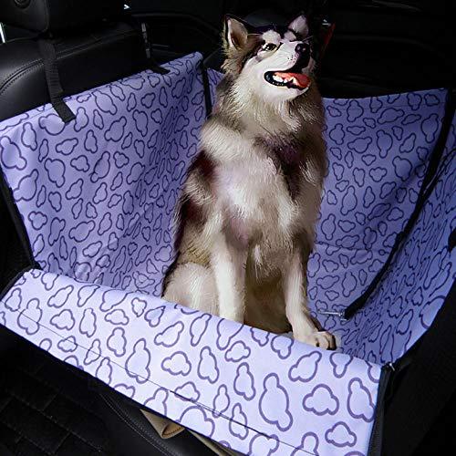 Asiento Perro para Coche Patrón de Nube Púrpura Tela Perros Coche para Mascota