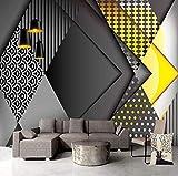 Fototapete 3D Geometrie Moderne Wanddeko Design Tapete Wandtapete Wand Dekoratio TV Hintergrundwand 250x175 cm