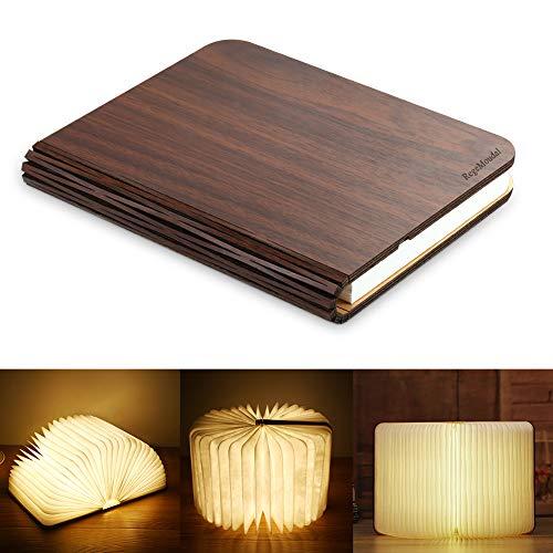 RegeMoudal LED Buch Licht Faltbare Buchlampe LED Stimmungsbeleuchtung USB aufladbare Schreibtisch Buch Licht Nachtlicht Nachttischlampe für Kinder Freundin Geschenk Eltern Home Decor