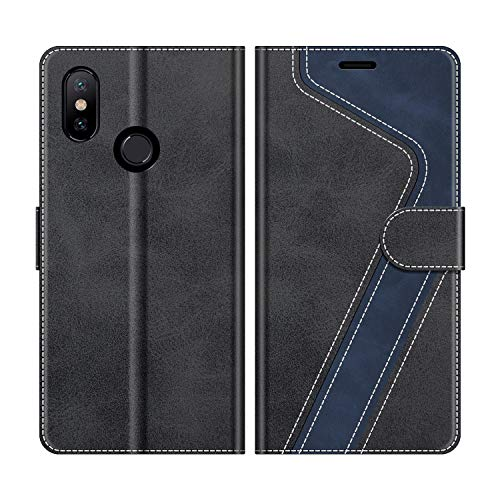 MOBESV Funda para Xiaomi Mi A2, Funda Libro Xiaomi Mi A2, Funda Móvil Xiaomi Mi A2 Magnético Carcasa para Xiaomi Mi A2 Funda con Tapa, Negro
