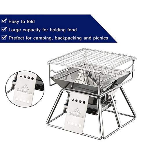 51vTHm32xCL - Lcb Grill im Freien Grill, klappbare, tragbare Kochen im Freien Werkzeug, Camping Wandern Picknick, tragbaren Holzkohle Innen- und Außengrill, Grillzubehör