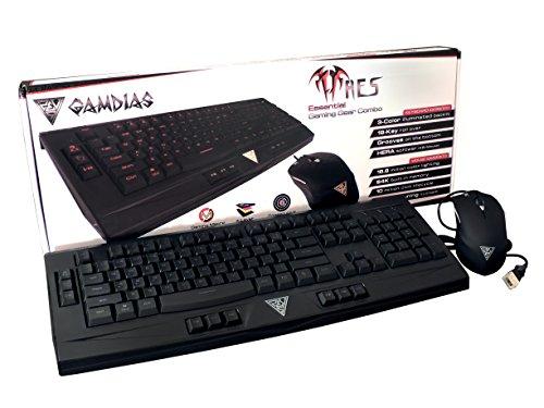 Gamdias Ares - Pack de Teclado y ratón para Gaming (QWERTY Español, USB) Color Negro