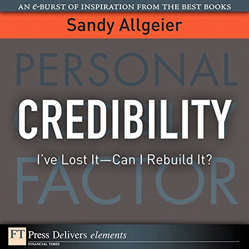 Credibility audiobook cover art