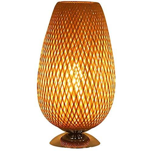 SPNEC Lámpara de Mesa, Mesa Simple de la lámpara de la lámpara de bambú Habitación Sala Estudio Hotel Lighting