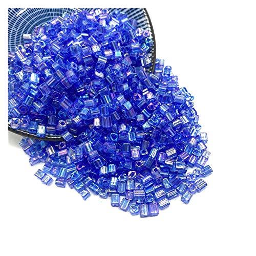 HAIXUE 100 unids/Lote 4 mm Colores Cuentas de Cristal Cuadrado Perla espaciadora Suelta para la joyería Que Hace el Collar de la Pulsera de Bricolaje (Color : 03)