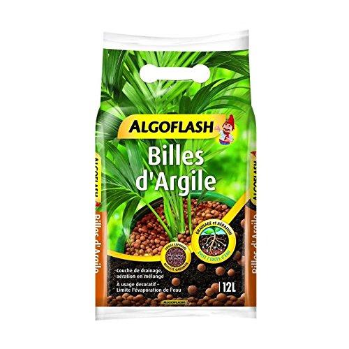 ALGOFLASH Billes d'Argile, Limite l'évaporation de l'eau, 12 L, ATBILL12N