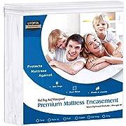 Utopia Bedding Premium Waterproof Mattress Encasement, Zippered, Bed Bug Proof, Easy Care (Queen)