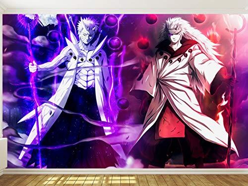 Naruto fotobehang voor muren animebehang Boy Bedroom Hotel Kamer Decor Madara Uchiha Mural (H)300*(W)210cm Pro