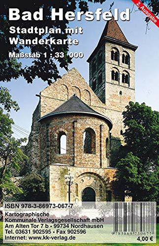 Bad Hersfeld: Stadtplan mit Wanderkarte
