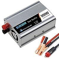 オートピュア正弦波インバーター500W/600W/800W/1000W/1200W/1500W/2000W電圧コンバーターDC12V/24VからAC110V/220V/230V/240Vコンバーター-ソケットとUSBポートを備えたインバーターコンバーター