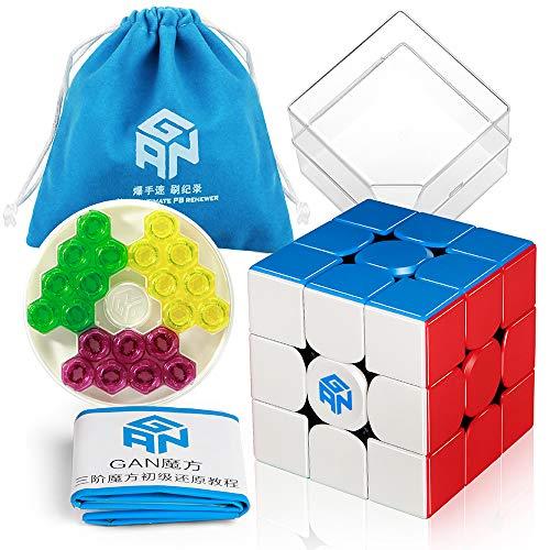 Coogam GAN 356 M 3x3 Gans Senza Adesivo 356M Puzzle Magnetico Cube Gan356 M 3x3x3 con GES (Edizione Standard)