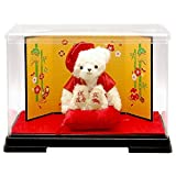【プティルウ】還暦に贈る、赤いちゃんちゃんこを着た干支テディベア(金屏風 ケース)亥 いのしし