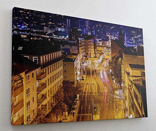 Wuppertal City Skyline Leinwand Canvas Bild Wandbild Kunstdruck L1444 Größe 70 cm x 50 cm