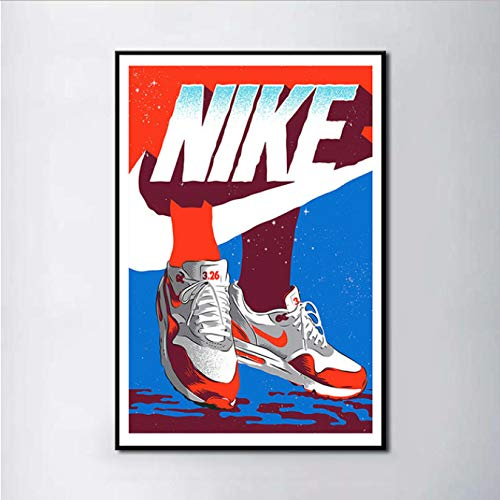 ysldtty Sneaker Michael Jordan Schuhe Mode Aj Geschichte Air Max Wandkunst Malerei Druck Auf Seide Leinwand Poster Dekoration 40X60 cm Ohne Farme