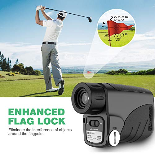 MiLESEEY Golf Rangefinder, Laser Golf Rangefinder 656Yards with Slope On/Off (Angle Switch), Fast Flagpole Scanning, Continuous Scan, 6X Magnification, Distance/Angle/Speed Measurement for Golfing