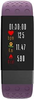 EisEyen - Pulsera de Actividad con pulsómetro, medición de frecuencia cardíaca, Pantalla táctil OLED, notificaciones en Tiempo Real, Resistente al Agua IP68