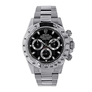 Fashion Shopping Men's Rolex Cosmograph Daytona Black Dial 40mm Men's Watch – Ref # 116520