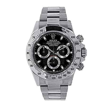 Fashion Shopping Men's Rolex Cosmograph Daytona Black Dial 40mm Men's Watch – Ref # 116520