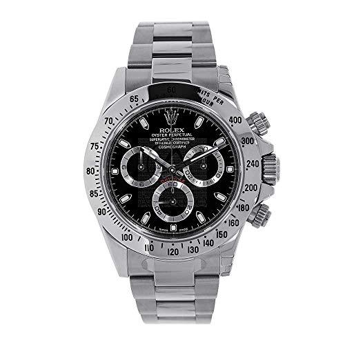 Men's Rolex Cosmograph Daytona Black Dial 40mm Men's Watch - Ref # 116520
