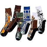 5Pairs Novelty Fun Socken Hip Hop Socken Star Wars Jedi Ritter Meister Yoda Cosplay Socken Erweckt Harajuku Socken