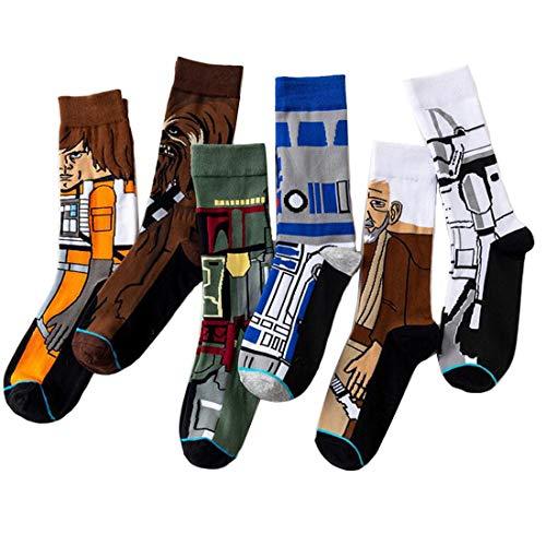 5 Pares Hombres Calcetines Mujeres Star Wars Medias Calcetines Hip Hop