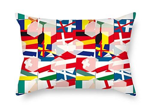 Artistdecor Géométrie Housses de coussin 40,6 x 61 cm/40 par 60 cm pour salle d'étude salle de danse de son Amant de cuisine Chaise avec chaque côté