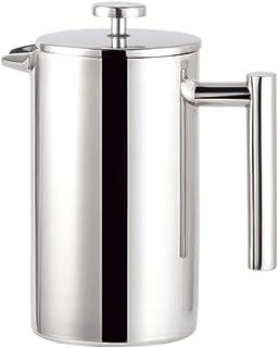 DISS Pots à café en acier inoxydable 304, café filtre à 3 couches, température constante à double couche, café et coiffes ...