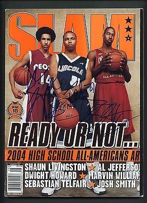 Dwight Howard + 5 Others Signed SLAM Magazine PSA/DNA LOA AUTO Autograph