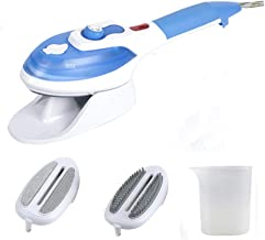 Handheld Steamer Clothes Steamer Steam Iron Home Travel Portable Steam Brush and 2 Removable Brushes for Household and Tra...