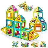Condis Magnetische Bausteine 62 Teile Magnetspielzeug Magnete Kinder Magnetbausteine Magnet Spielzeug Kinder Magnetspiele für Kinder Kinderspielzeug Puzzle Geschenk ab 3 4 5 6 7 Jahre Junge Mädchen