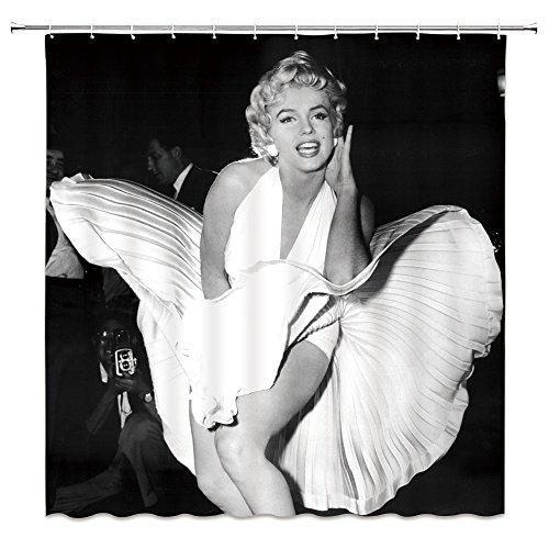AMFD Duschvorhang Marilyn Monroe Classic Film Star Charakter Sexy Schöne 177,8x 177,8cm Wasserdicht Polyester-Schimmel-Badezimmer enthalten Haken Modern 70 x 70 Inches Multi 4044