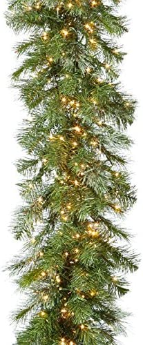9 Foot specialty shop Pre Lit Garland With Remote Cluster 600 Popular overseas - Lights Control