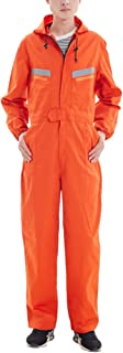Men's & Women's Dustproof Workwear Long Sleeve Coverall Suit with Hood