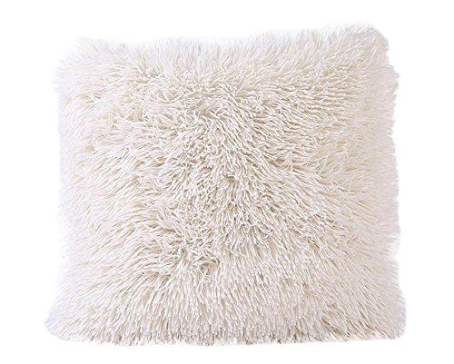 Demarkt–Fundas de almohada fundas de cojín decorativo sofá almohada Home decorativa 43* 43cm verde, peluche, beige, 43*43cm