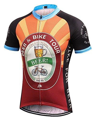 MR Strgao Herren Radtrikot Bike Kurzarm Shirt Orange