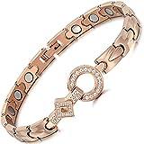 Rainso Elegant Womens Titanium Steel Health Magnetic Therapy Bracelets Pain...