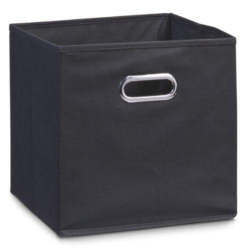 Zeller 14133 - Caja de almacenaje de tela, plegable, 28 x 28 x 28 cm, color negro